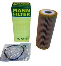 Original MANN Ölfilter HU726/2x & Dichtungen Audi Seat Skoda VW Ford