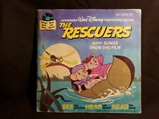 Vintage 1977 Walt Disney Productions The Rescuers Book and Record  367