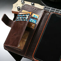 For iPhone XR/XS/Max, Flip Leather Men's Wallet Card Slots Stand Case Soft Cover