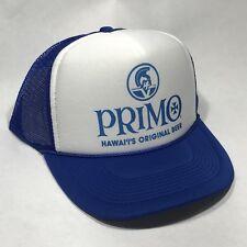 Primo Hawaii Beer Trucker Hat Vintage Snapback Cap Party Original Blue