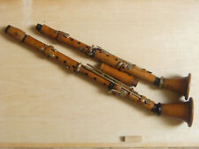 alte antik Klarinette B , C Set aus Buchsbaum