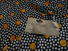 100% Silk Made in France Carolina Herrera Abraham Black with Gold and white dots