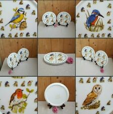 *Used* Lovely Pair 2 x Plastic / Ceramic Serving Mats▪GARDEN BIRDS▪Table Centres