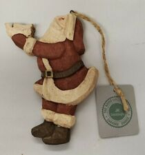 Boyds' Collection Carvers Choice - Jill Strausbaughs - Wood - Santa Holding Dove