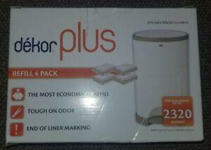 Dekor Plus Diaper Pail Refills 4 pack refill New open box
