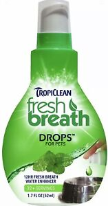 TropiClean Fresh Breath Drops For Dogs And Cats 1.7 Ounces