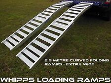 2.5 Metre Curved Folding Mower Loading Ramps Extra Wide