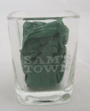 Square SAMS TOWN CASINO HOTEL Las Vegas 1.5 oz Shot glass Collectible etched