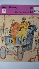 SPORTSCASTER RENCONTRE COLLECTABLE CARD  AUTO RACING THE FIRST RACES