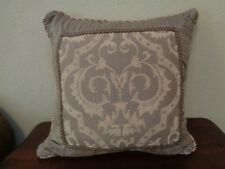 """Waterford Square Decorative Throw Pillow 20"""" x 20"""" Corded Rope Trim Zippered"""