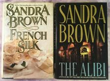 Sandra Brown Hardcover Book Lot of 2 The Alibi, French Silk HC DJ
