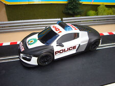 MINT DIGITAL SCALEXTRIC AUDI R8 POLICE CAR WITH FLASHING LIGHTS & SIREN