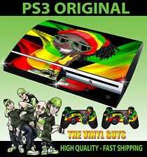 Playstation 3 Rasta Jamaican Man Reggae Style Sticker Skin + Controller decals