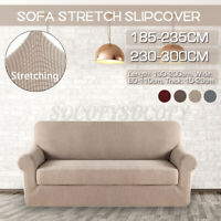 3/4 Seater Stretch Chair Sofa Covers Couch Cover Elastic Slipcover Protector US