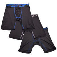 AND1 Men's 3 Pack Performance Boxer Briefs (S07)