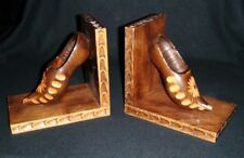 Pair of Hand Carved Wooden Wooden Bookends Ladies' Shoes