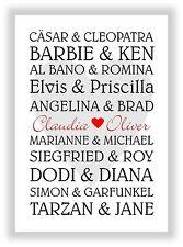 Geschenk zum Valentinstag Hochzeitstag Hochzeit Jahrestag Heirat Liebesbeweis
