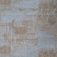 Blue Gray bronze metallic vintage Rug carpet Textured Moroccan boho Wallpaper 3D