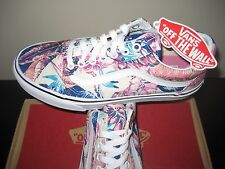 Vans Womens Old Skool Tropical Multi White Canvas Shoes Size 7 VN0003Z6IKP NWT