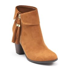 LC Lauren Conrad Sweetpea Women's Ankle Boots Cognac 6 M