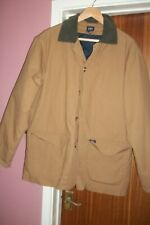Used Cotton Traders size M brown jacket, detachable quilted lining