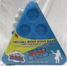 Freezable Beer Pong Rack Keep Beer Ice Cold Adult Party Game Balls 2 N-Ice Racks