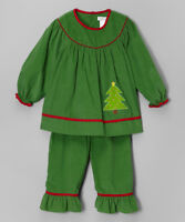 Girls PETIT POMME ami Christmas tree outfit 2T 3T 4T NWT green red shirt dress