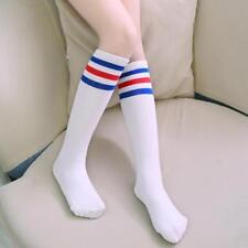 OVER THE KNEE HIGH SOCKS RED WHITE BLUE STRIPEY WARM WOMAN GIRL BRITISH RANGERS