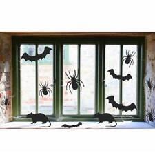 30 X Halloween Effrayant Chauve-Souris Araignées Rats Silhouette Fenêtre Découpe