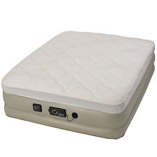 Insta-Bed Raised Queen Pillow Top Air Bed Mattress with neverFLAT Air Pump