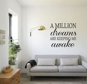 THE GREATEST SHOWMAN INSPIRED - WALL STICKER DECAL TRANSFER - A MILLION DREAMS