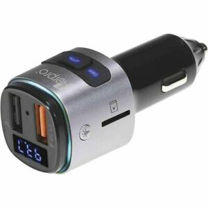 Aerpro Bluetooth Hands Free Car Kit with FM Transmitter and Fast Charge FMT255