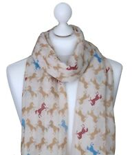 Jumping Horse Scarf Women Horse Print Scarves Ladies Animal Lovers Gifts For Her