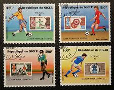 Timbre / Stamp NIGER - Yvert et Tellier Aérien n°349 à 352 obl (Cyn16)