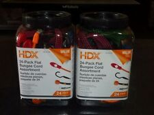Lot of 2 HDX 24 Packs Flat Bungee Cords Assortment NEW Retail 48 total cords