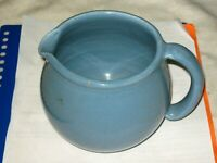 A Vintage Australian Studio Pottery Blue Glazed Jug with T base Marking