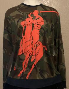 NEW Polo Sport Ralph Lauren Men's Size XL Camo Big Pony Crew Neck Sweatshirt