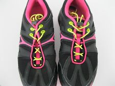 LADIES SPEEDO BLACK/PINK ATHLETIC SHOES, SIZE 8M, EXCELLENT, FREE US SHIPPING