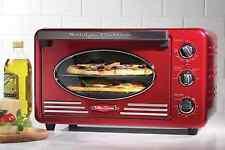 Nostalgia Electrics Retro Series Vintage 2 Rack Convection Toaster Oven in Red