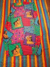 Disney Pocahontas Twin Sheet Set w Flat and Fitted & 3 Valances Vintage 90's