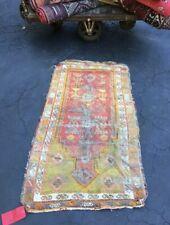 Antique Moroccan Handmade Wool Carpet Bohemian Berber Taznakht Tribal 4.7 X 2.7