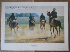 Morning Exercise Horse Racing Art Picture  Adrian Dent On the Gallops