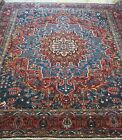 ANTIQUE TRIBAL BAKHTIYARII HERIZZ HAND KNOTTED WOOL LARGE ORIENTAL RUG  13'x16'