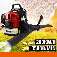 248MPH 2 Stroke Backpack Gas Leaf Blower 52CC Powered w/extention tube 890 CFM