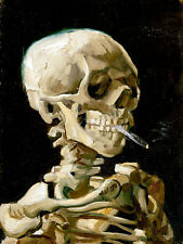 Head of a Skeleton with a Burning Cigarette by Vincent van Gogh A2 Art Print