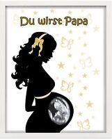 """Bilderrahmen personalisiert - Baby """"Du wirst Papa"""" - Geschenk - Geburt"""