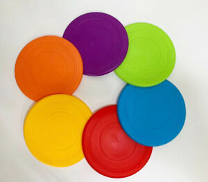 Soft Flying Disc Fetch Toys Durable Training Toys Outdoor Playing for Dogs&Kids