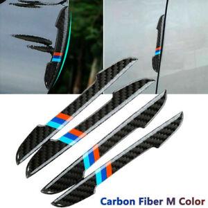 4PC Carbon Fiber Car Accessories Door Scratch Bumper Scuff Trim Stickers for BMW