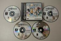 Final Fantasy IX PS1 PlayStation One Authentic Case + 4 Discs Black Label Nice!