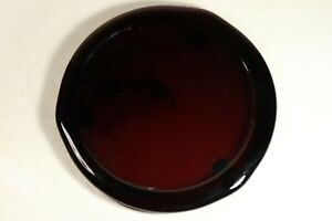 """8"""" Purple Amethyst Round Glass Pillar Candle Footed Base / Plate"""